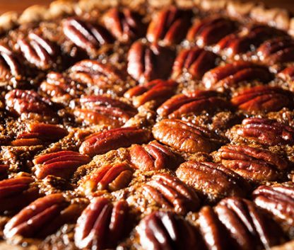 It's impossible to go wrong with pecan pie.
